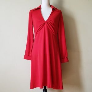Diane von Furstenberg Red Twist Wool Knit Dress
